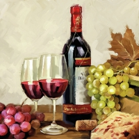 Servietten 33x33 cm - Wine & Grapes