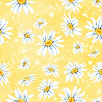 Lunch Servietten Daisies Yellow