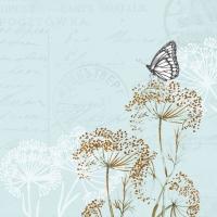 Servietten 33x33 cm - Schmetterlingszweige Blau