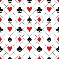 Servietten 33x33 cm - Cards