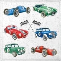 Servietten 33x33 cm - Klassische Autos