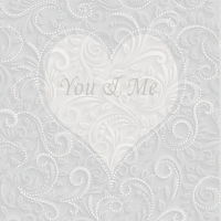 Servietten 33x33 cm - You & Me Champagne