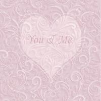 Servietten 33x33 cm - Du & Ich Rose