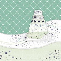 Servietten 33x33 cm - Sweet Cake Green