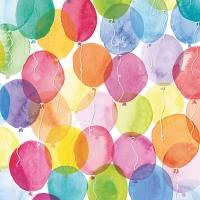 Servietten 33x33 cm - Aquarell Balloons