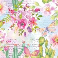 Servietten 33x33 cm - Roses & Cacti