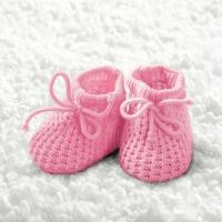 Servietten 33x33 cm - Baby Mädchen Booties