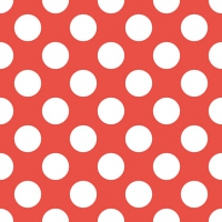 Servietten 33x33 cm - Big Dots Red