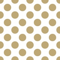 Servietten 33x33 cm - Big Dots Gold