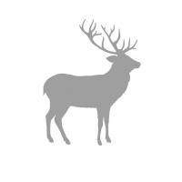 Servietten 33x33 cm - Hirsch Kontur Silber