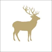 Servietten 33x33 cm - Deer Contour Gold