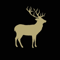 Servietten 33x33 cm - Deer Contour Black/Gold