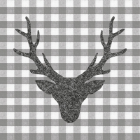 Lunch Servietten Stag Head Grey
