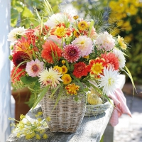 Lunch Servietten Dahlia Bouquet