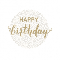 Servietten 33x33 cm - Birthday Dots Gold