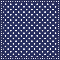 Servietten 33x33 cm - Stripes Dots Blue