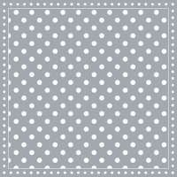 Servietten 33x33 cm - Stripes Dots Grey