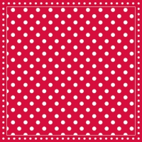 Servietten 33x33 cm - Stripes Dots Red