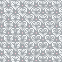 Servietten 33x33 cm - Hearts In Hearts Grey