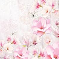 Servietten 33x33 cm - Magnolien-Garten