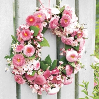 Servietten 33x33 cm - Wreath of Bellies Rose