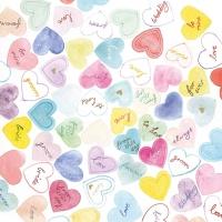 Servietten 33x33 cm - Süße Herzen