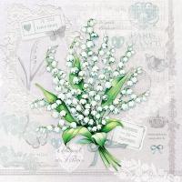 Servietten 33x33 cm - Lily of the Valley