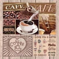 Servietten 33x33 cm - Coffee Variations