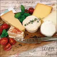 Servietten 33x33 cm - Palette of Cheeses