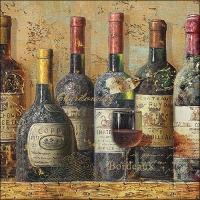 Servietten 33x33 cm - Best Wines