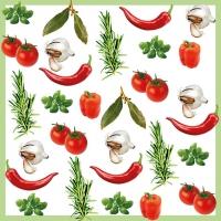 Servietten 33x33 cm - Italienisches Gemüse