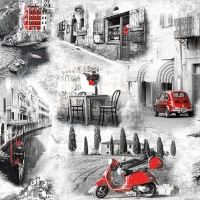 Servietten 33x33 cm - Italian Streets