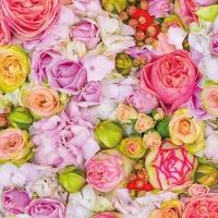 Servietten 33x33 cm - Bed of Roses