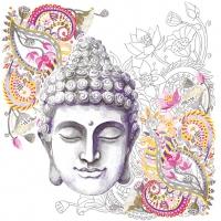 Servietten 33x33 cm - Buddha Head Stone