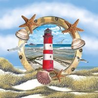 Servietten 33x33 cm - Lighthouse In Partridge