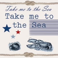 Servietten 33x33 cm - Take Me To The Sea