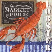 Servietten 33x33 cm - Lobster