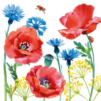 Servietten 33x33 cm - Cornflower And Poppy