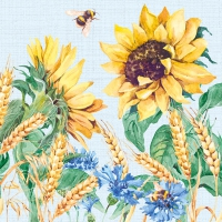 Servietten 33x33 cm - Sunflower And Wheat Blue