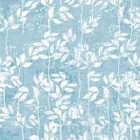 Servietten 33x33 cm - Leaves Pattern Aqua