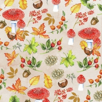 Servietten 33x33 cm - Autumn Pattern