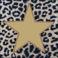 Servietten 33x33 cm - Wildlife Star Gold