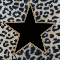 Servietten 33x33 cm - Wildlife Star Black