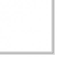 Servietten 33x33 cm - Lea White/Silver