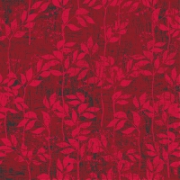 Servietten 33x33 cm - Leaves Pattern Berry