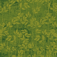 Servietten 33x33 cm - Leaves Pattern Green