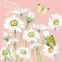 Servietten 33x33 cm - Daisy Coral