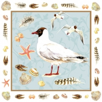 Servietten 33x33 cm - Black-Headed Seagull Blue
