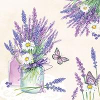 Servietten 33x33 cm - Lavender Jar Cream