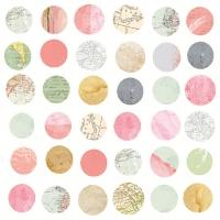Servietten 33x33 cm - Maps In Circles